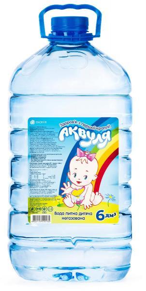 Вода минеральная детская Аквуля 6 л