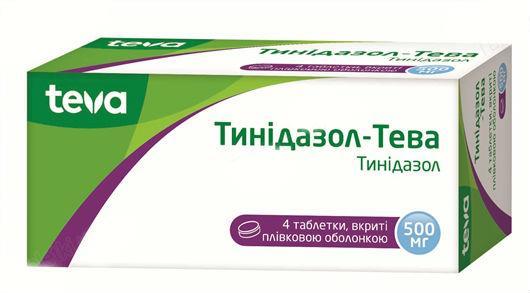 Тинидазол-Тева 500 мг N4 таблетки