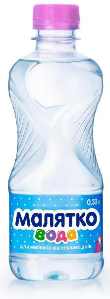 Вода минеральная детская Малятко 0.33л