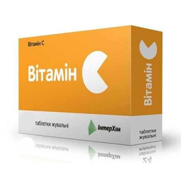 Витамин C 500 мг N56 апельсин таблетки жевательные