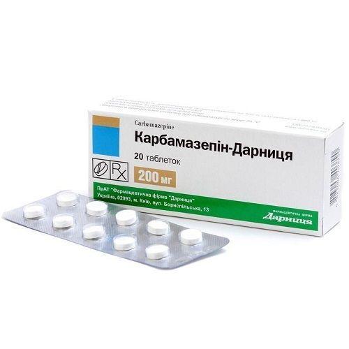 Карбамазепин-Дарница 0.2 г №20 таблетки
