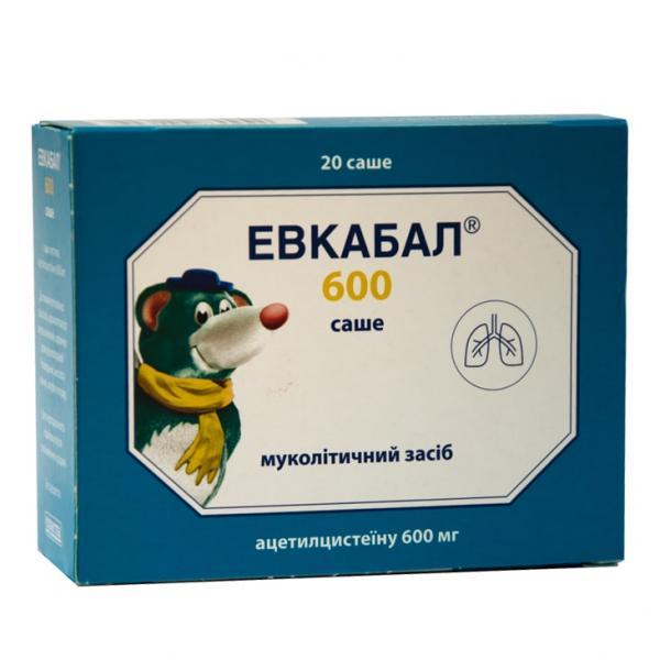 Эвкабал 600 мг №20 порошок в саше для раствора