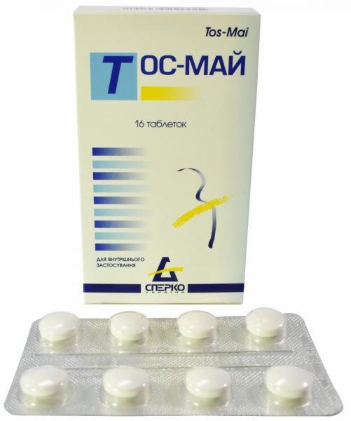 Тос-май №16 таблетки