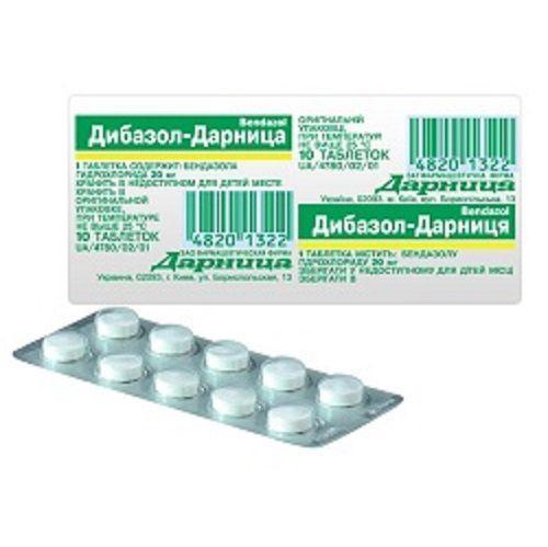 Дибазол-Дарница 0.02 №10 таблетки
