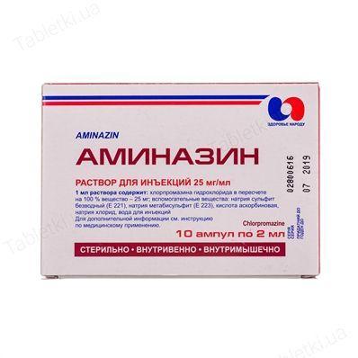 Аминазин 2,5% 2 мл N10 раствор для инъекций