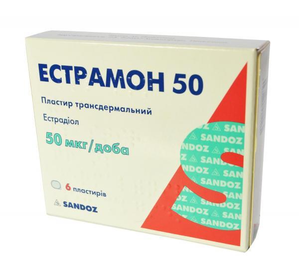 Эстрамон лейкопластырь 50 мкг №6