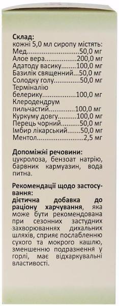 Софре Н 100 мл сироп без сахара