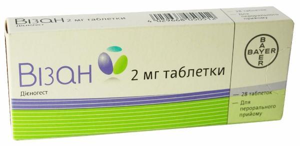 Визан 2 мг №28 таблетки