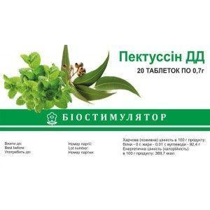 Пектусин ДД 0.7 г N20 таблетки
