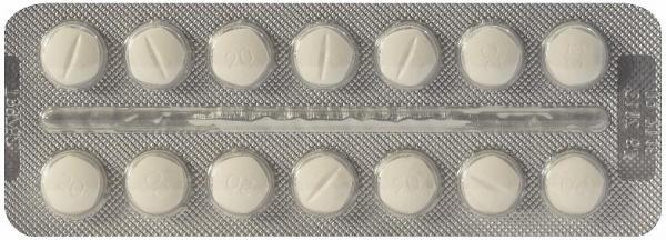 Диротон 20 мг №56 таблетки