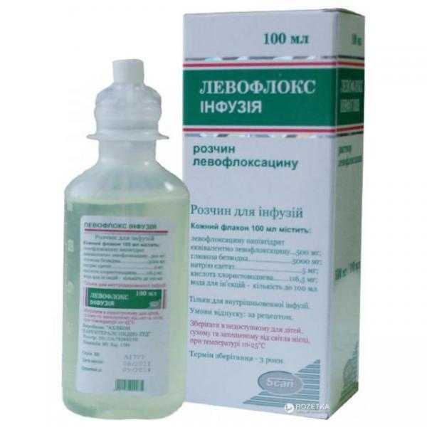 Левофлокс 500мг 100мл раствор для инфузий
