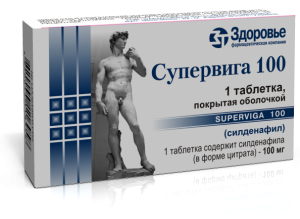 Супервига-100 100 мг №1 таблетки