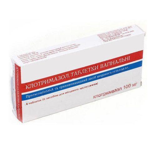 Клотримазол 100 г №6 таблетки вагинальные