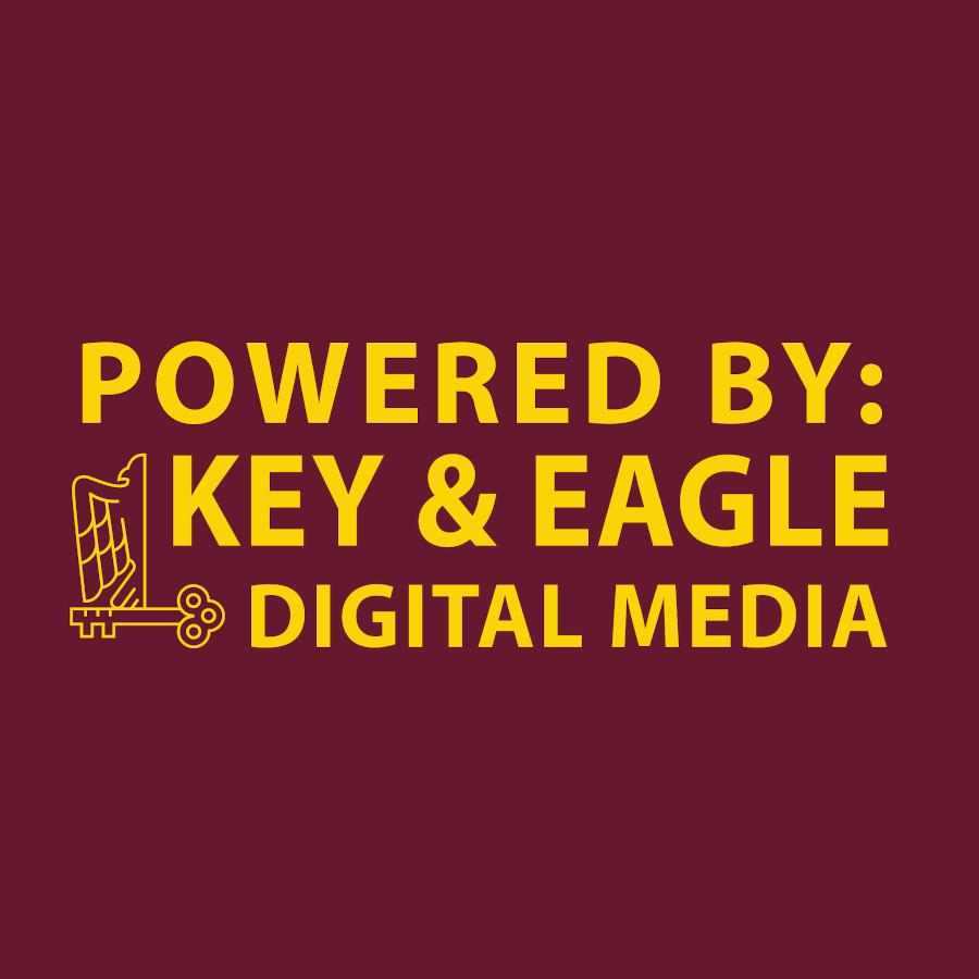 key and eagle logo