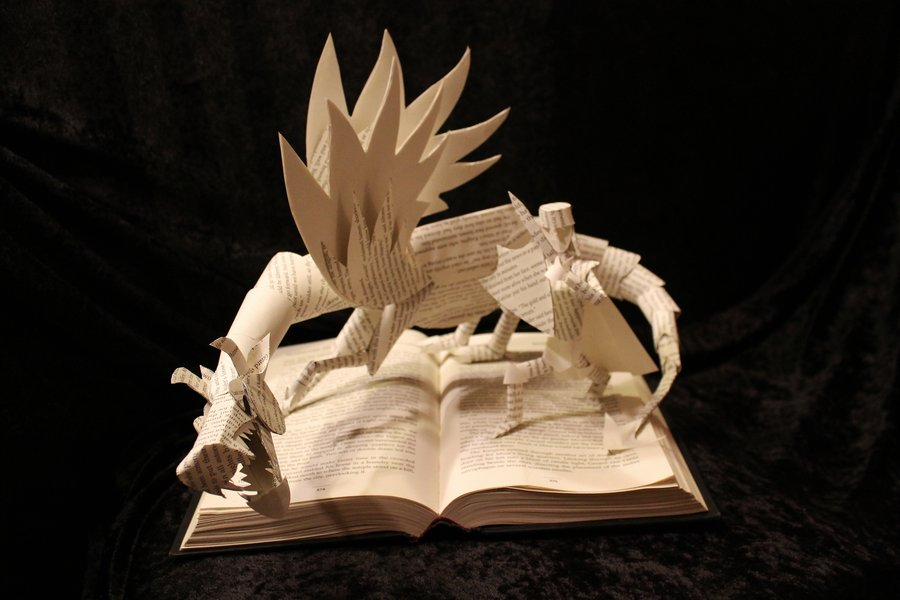 knight_and_dragon_ii_book_sculpture_by_wetcanvas-d5n8918