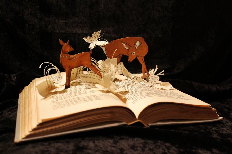 bambi__book_sculpture_by_wetcanvas-d5n88g1