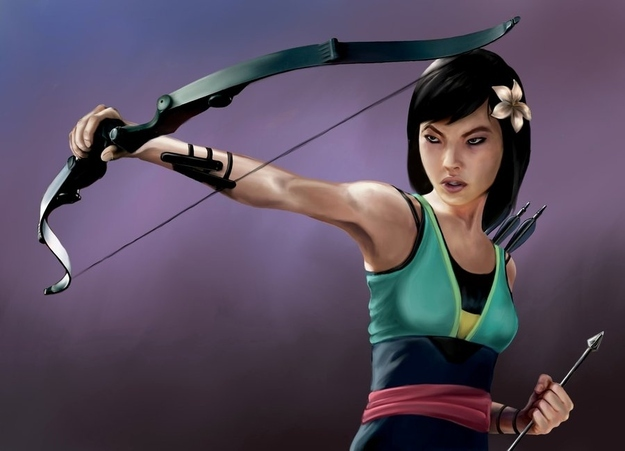 Mulan as Hawkeye
