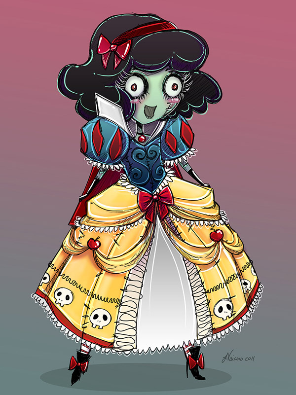 cute_zombie_snow_white_by_noflutter-d4g6591