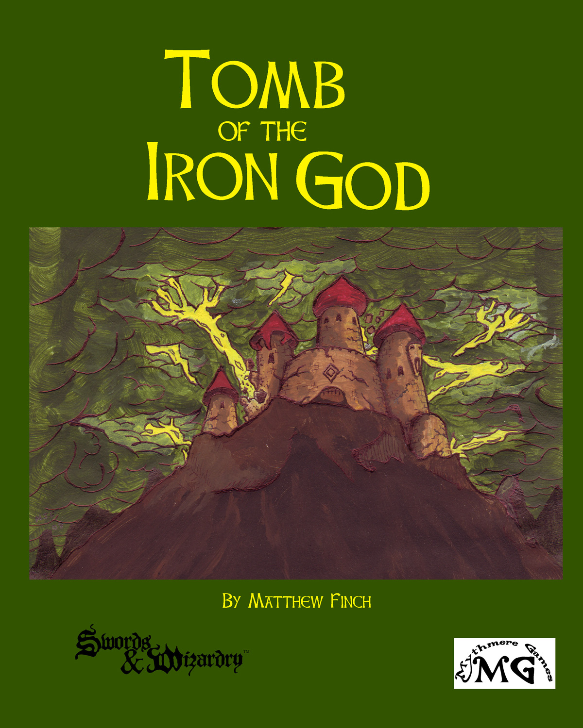 Lightning destroys the Tomb of the Iron God on a perilous cliff