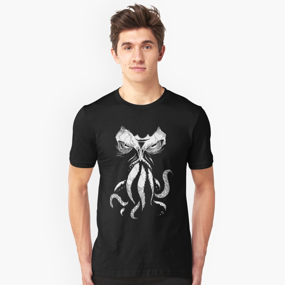 Lovecraft t-shirt: Cthulhu wakes