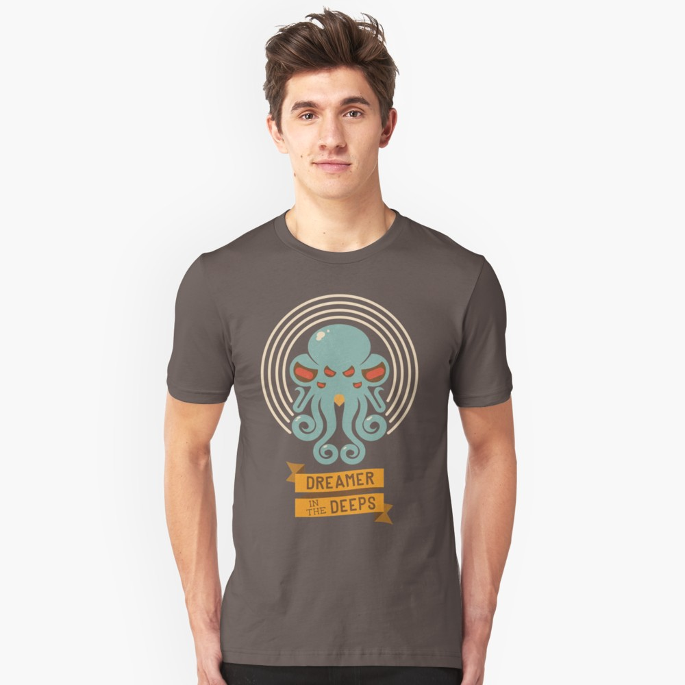 Lovecraft t-shirt: Dreamer in the deep