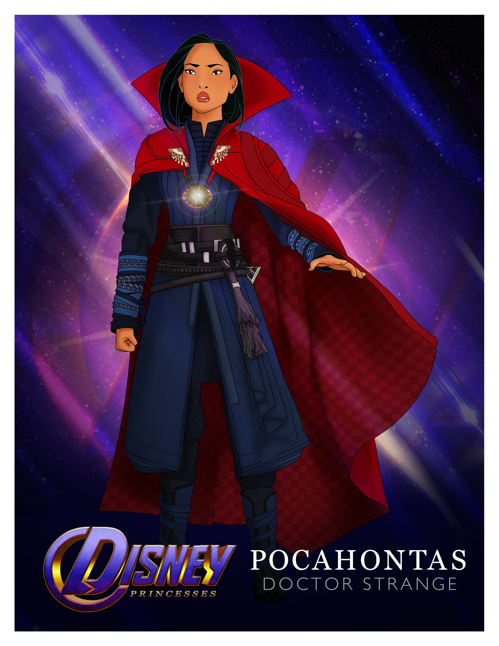 Princess Pocahontas as Doctor Strange