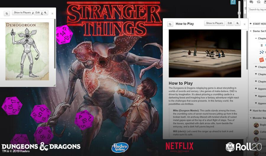 Stranger Things D&D at Roll20