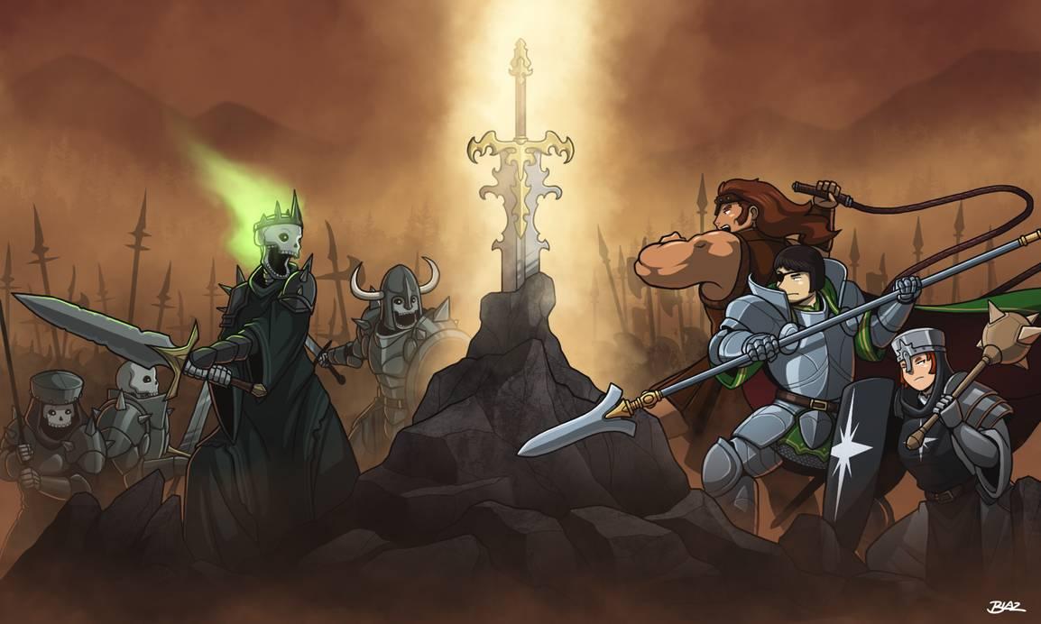 Battle for the Epic Sword Rock