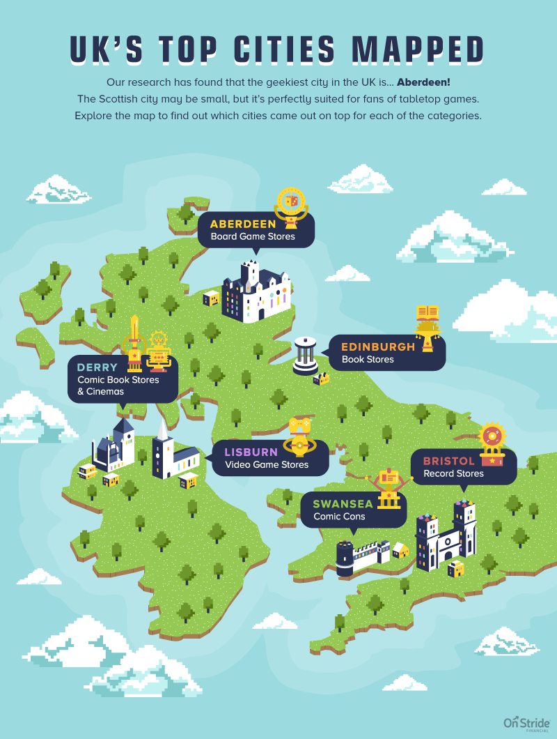 Most geeky cities