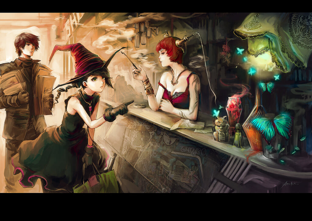 the magical pigment shop by auska111