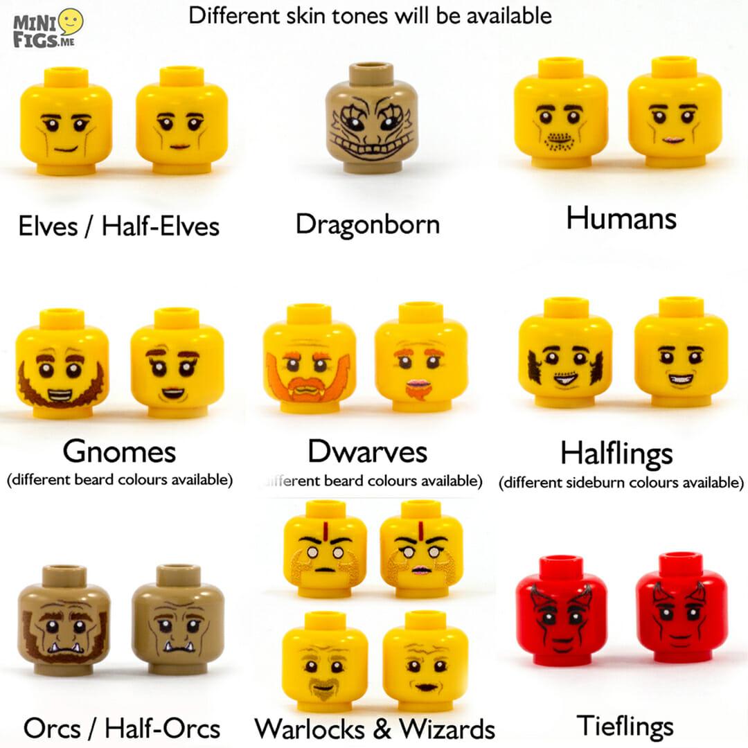D&D lego heads