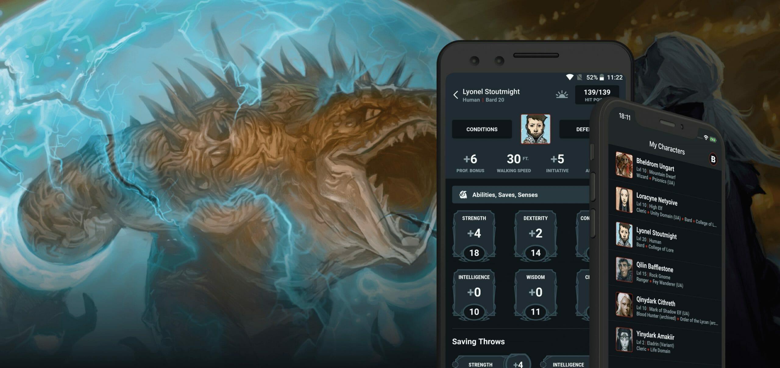 D&D Beyond app