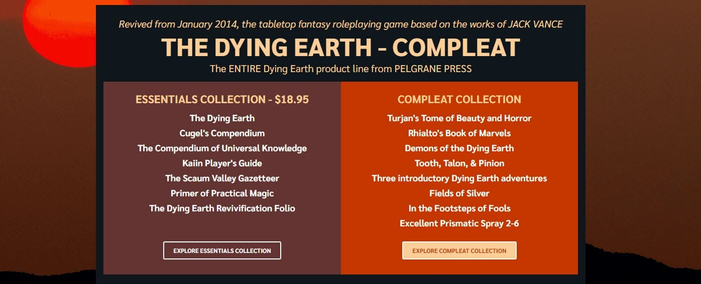 The Dying Earth RPG Bundle
