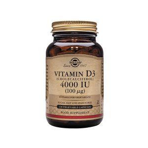 Solgar Vitamin D3 (Cholecalciferol) 4000IU (100µg) Capsules (120)