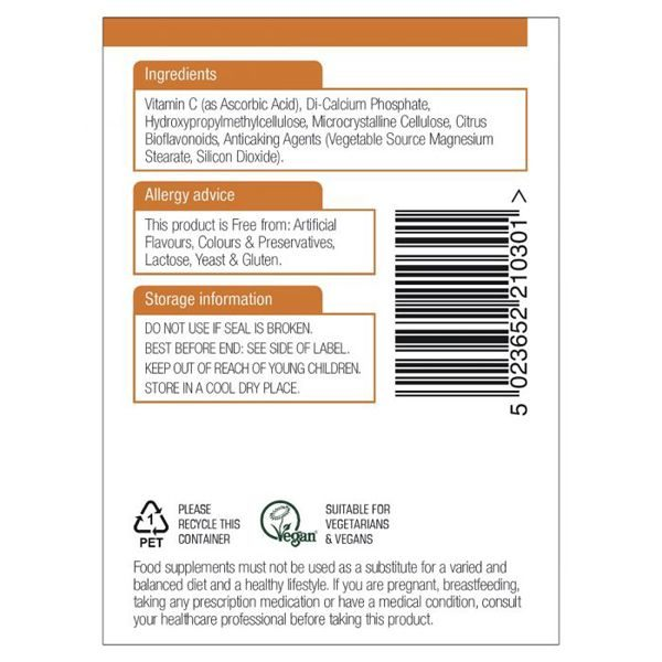 Natures Aid Vitamin C Time Release – (30) Tablets