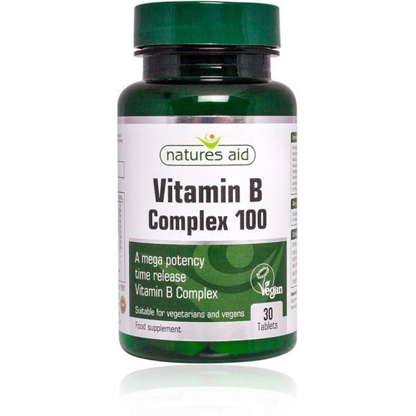 Natures Aid Vit B Complex 100 Time Release Tablets (30)