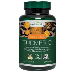 Natures Aid Turmeric 8200mg (High Potency) Capsules (30)