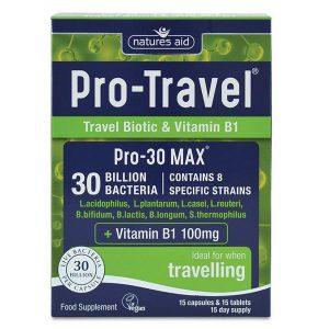 Natures Aid Pro Travel (30 Billion Bacteria) Capsules & Tablets (15+15)