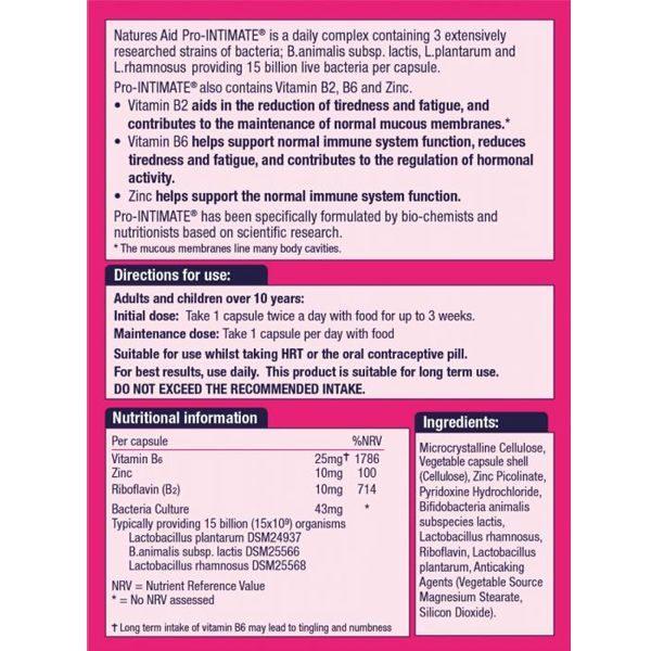Natures Aid Pro Intimate Female (15 Billion Bacteria) – (45) Capsules