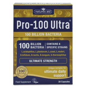 Natures Aid Pro 100 Ultra (100 Billion Bacteria) Capsules (30)