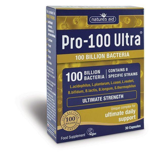 Natures Aid Pro 100 Ultra (100 Billion Bacteria) Capsules (30)
