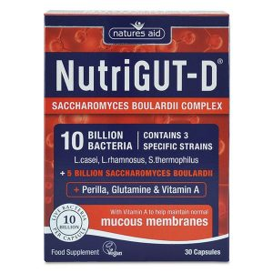 Natures Aid Nutrigut-D (10 Billion Bacteria) – (30) Capsules