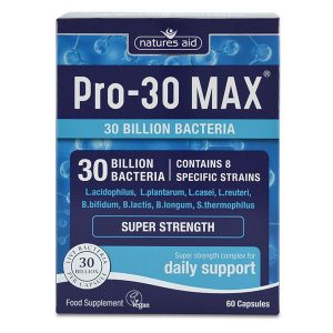 Natures Aid Pro-30 Max (30 Billion Bacteria) Capsules (60)