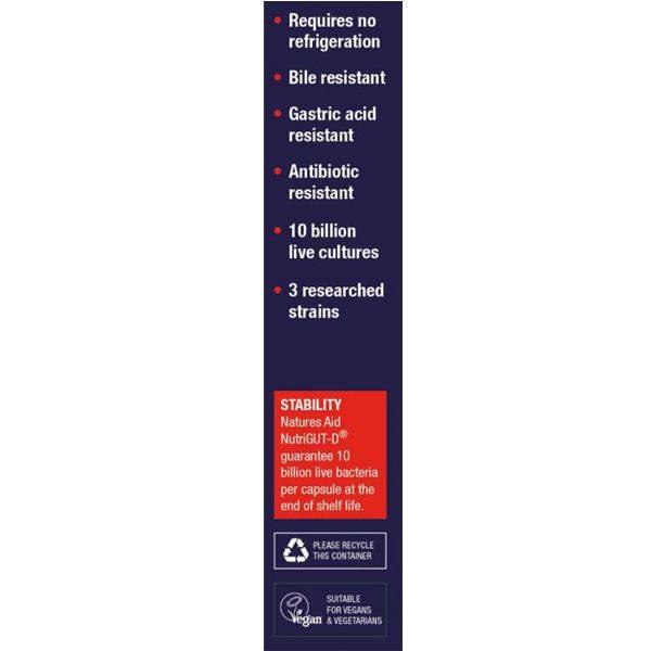 Natures Aid Nutrigut-D (10 Billion Bacteria) – (30) Capsules