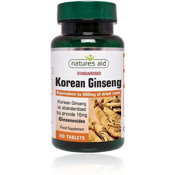 Natures Aid Korean Ginseng – (90) Tablets