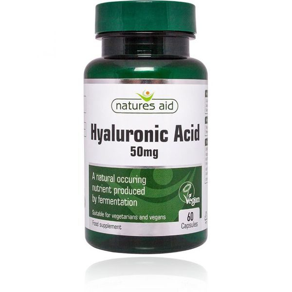 Natures Aid Hyaluronic Acid 50mg – (60) Capsules