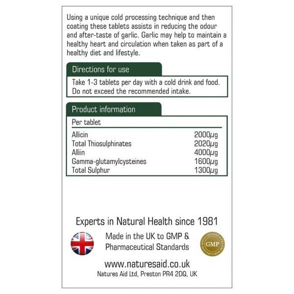 Natures Aid Concentrated Garlic 2000µg Tablets (90)