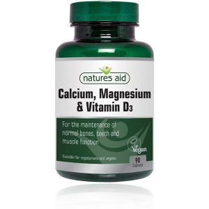 Natures Aid Calcium, Magnesium & Vitamin D3 Tablets (90)