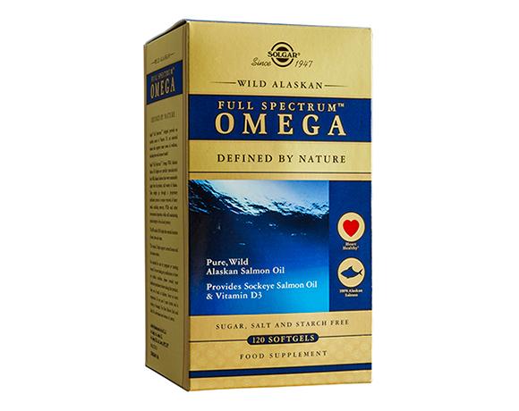 Solgar Wild Alaskan Full Spectrum Omega Softgels (120)