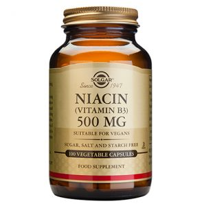 Solgar Niacin (Vitamin B3) 500 mg Capsules (100)